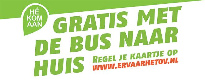 Hé kom aan, gratis met de bus naar huis